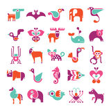 Animal vector icon set Stock Photos