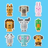 Animal vector icons Stock Image
