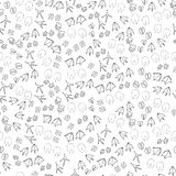 Animal vector pattern. Poultry, pet steps on a white background Stock Photography