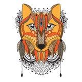 Animal vector portrait - fox Stock Photos