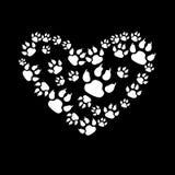 Animal vector print paw foot shape illustration Royalty Free Stock Photos