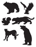 Animal vector silhouettes Stock Photography