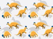 Dinosaur Corythosaurus Cartoon Background Seamless Wallpaper vector illustration