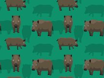 Feral Hog Poses Cartoon Seamless Wallpaper. Animal Wallpaper EPS10 File Format Royalty Free Stock Image