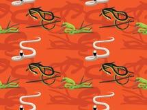 Snake African Venomous Cartoon Seamless Wallpaper. Animal Wallpaper EPS10 File Format Stock Photos