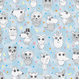 Animal Warm Seamless Pattern. Illustration of animal with warm seamless pattern Stock Photos