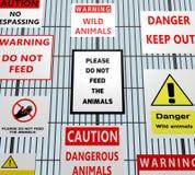 Animal Warning Signs Royalty Free Stock Photography