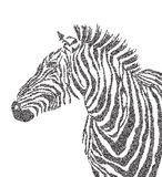 Animal watercolor illustration silhouette cute zebra polka-dot. Vector Royalty Free Stock Image