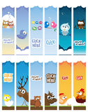 Animal Web Banners Royalty Free Stock Photo