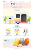 Animal website template  banner and infographic with Cat Stock Images