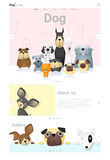 Animal website template banner and infographic with Dog. Vector , illustration stock illustration