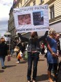 Animal welfare demonstration Stock Image