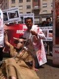 Animal welfare demonstration Stock Photo