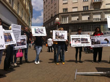 Animal welfare demonstration Stock Photography
