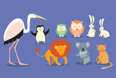 Animal Wild Collection Set Flat Vector Stock Images