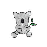 Animal wild Koala cartoon stamp Royalty Free Stock Photos