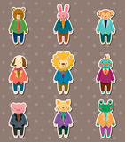 Animal worker stickers Stock Photo