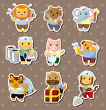 Animal worker stickers Stock Photo