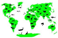 Animal world. Wild animal world vector file Royalty Free Stock Photography