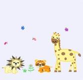Animal World Fun Design Vector. Animal World Fun Design for website, marketing, public advertaising, fun design for wallpaper, drawing book, poster Stock Photography