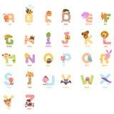 Animal a z, vector del alfabeto stock de ilustración