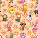 Animal Zodiac Match Seamless Pattern. Illustration culture animal zodiac match different animal zodiac seamless pattern Royalty Free Stock Photos