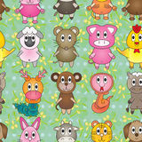 Animal Zodiac Stand Seamless Pattern Stock Photography