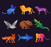 Animal zoo vector icons set Royalty Free Stock Images