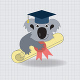 Animala Koala Graduation Icon Stock Image
