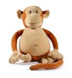 Animale del giocattolo della scimmia Immagini Stock Libere da Diritti
