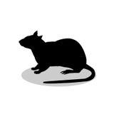 Animale della siluetta del nero del roditore del topo del ratto Immagine Stock