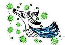 Animale di fantasia con la volpe delle ali Fotografie Stock