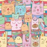 Animale di Kokeshi molto modello senza cuciture royalty illustrazione gratis