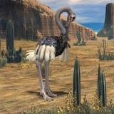 Animale di Ostrich-3D illustrazione di stock