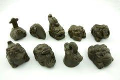 Animale domestico del tè della scultura di Redware Fotografie Stock