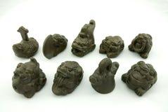 Animale domestico del tè della scultura di Redware Fotografia Stock