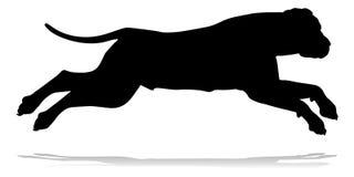 Animale domestico della siluetta del cane Immagine Stock