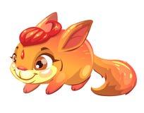 Animale domestico divertente dello scoiattolo di fantasia del fumetto Fotografie Stock