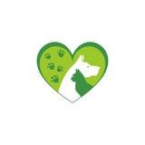 Animale domestico e veterinario Logo, gruppo dell'animalista Immagine Stock