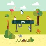 Animale e zoo illustrazione vettoriale