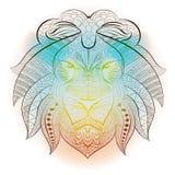 Animale etnico tribale del leone Immagine Stock Libera da Diritti