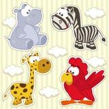 Animale stabilito dell'icona Immagini Stock
