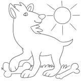 Animale sveglio con le ossa royalty illustrazione gratis