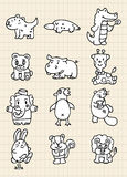 Animale sveglio di tiraggio della mano royalty illustrazione gratis