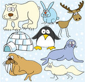 Animales árticos stock de ilustración