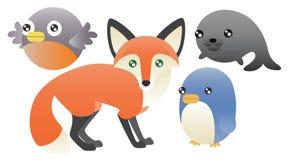 Animales abstractos fijados libre illustration