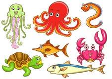 Animales acuáticos ilustración del vector