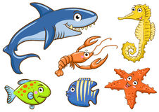Animales acuáticos stock de ilustración
