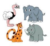 Animales africanos 2 stock de ilustración
