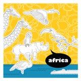 Animales africanos 4 stock de ilustración